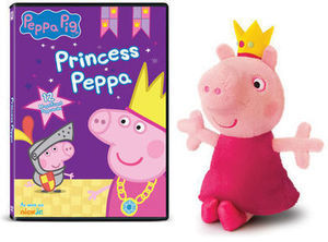 Peppa Pig Princess Peppa DVD Plush Gift Set