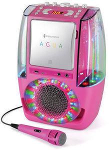 The Singing Machine AGUA Dancing Water Fountain Karaoke System - Pink