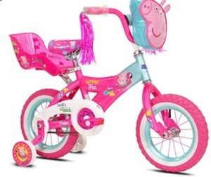 "12"" Peppa Pig Bike with Doll Seat"