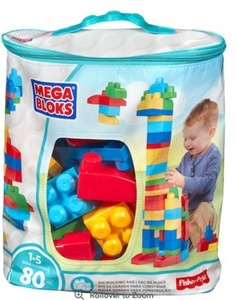 Mega Bloks First Builders 80-piece Big Building Bag - Classic