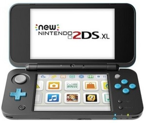 New! Nintendo 2DS XL - Black and Turquoise