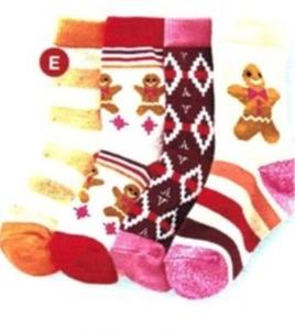 Girls' 4 Pk. Crew Socks