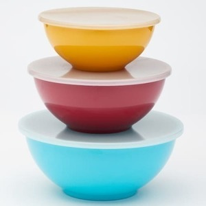 Food Network 3-Piece Melamine Bowl Set w/ Lids