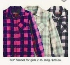 Girl's SO Flannels