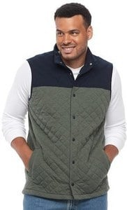 Croft & Barrow Men's Quilted Fleece Vests