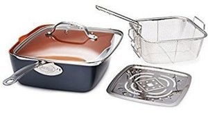 "Cooks 4-Pc.Copper Set w/ 9.5"" Deep Dish Pan After Rebate"