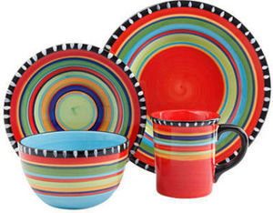 Elite Gibson Pueblo Springs 16-Piece Dinnerware Set