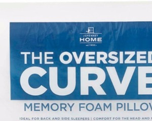 JCPenny Home The Oversized Curve Memory Foam Pillow