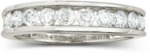 1 CT. T.W. Diamond 10K Wedding Band Select 1/4-1 Ct. T.W. Diamond Rings in 10K/14K Gold