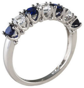 Ss Lc Blue Saphire Ring