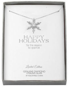 Diamond Snowflake Accent Pendant