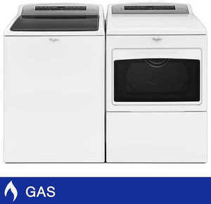 Whirlpool Top Load Laundry Pair w/Steam Clean Washer