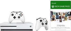 Xbox One S 500GB Bundle with 3-month Game Pass & Extra Controller