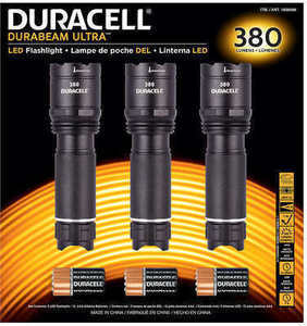 Duracell 380 Lumen LED Flashlights 3 pk.