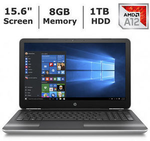 HP Pavilion 15-aw094nr Laptop with AMD A12-9700P Processor, 8GB RAM & 1TB HD