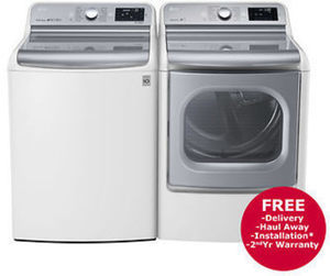 LG Top-Load TurboWash Washer and EasyLoad Electric Dryer