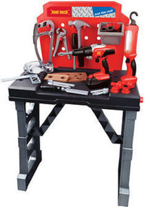 Motormax Tool Tech Deluxe Work Bench with Tools