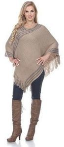White Mark Women's Poncho
