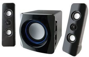iLive Wireless 2.1 Bluetooth Speaker System with Built-In Subwoofer