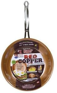 As Seen on TV Red Copper 10 Inch Fry Pan