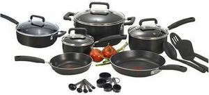 T-Fal Signature Black 22 Piece Cookware Set