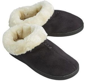 NorthCrest Womens Faux Suede Clog Slipper