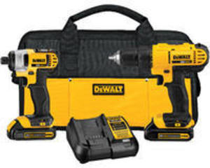 DeWalt 20V MAX Cordless Lithium Ion Drill Driver and Impact Driver Kit