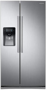 Samsung RS25J500DSR 25 cu. ft Capacity Side-by-Side Refrigerator w/ LED Lighting