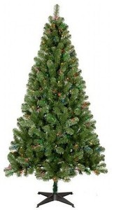 6ft Prelit Slim Artificial Christmas Tree Alberta Spruce Multicolored Lights - Wondershop