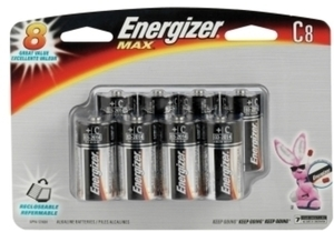 Energizer Max C Alkaline Batteries  w/ Card