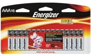 Energizer 16 AAA Max Alkaline Batteries