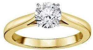 Tradition Diamond 14K Yellow Gold 1 Ct. Cert. Round Diamond Ring