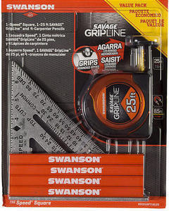 Swanson Tool Co. Speed Square, Tape Measure Gift Set