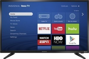 "Insignia 32"" LED 720p Smart TV w/ ROKU"