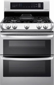 LG 6.9 Cu. Ft. Gas Self-Cleaning Freestanding Double Oven Range