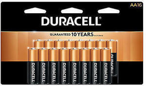 Duracell Coppertop AA Alkaline Batteries, Pack of 16 After Rewards