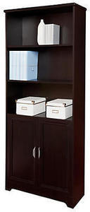 Realspace Magellan Collection 5-Shelf Bookcase With Doors