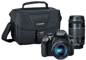 Canon EOS Rebel T6 18.0-Megapixel Digital SLR Camera Kit With 18-55 mm IS II And 75-300 mm III Lenses