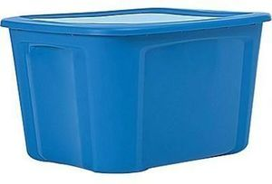 Bella Storage Solution 18 Gallon Plastic Flat Lid Tote