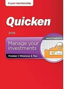 Quicken Premier 2018 Manage Your Investments