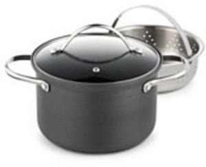 Tools Of The Trade Hard Anodized 4-Qt. Soup Pot With Steamer Insert After Rebate