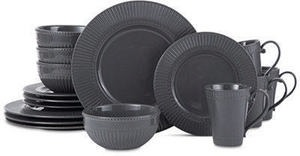 Mikasa Italian Countryside Graphite 16-Pc. Dinnerware Set