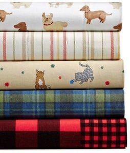 100% Cotton Printed Flannel Sheet Sets