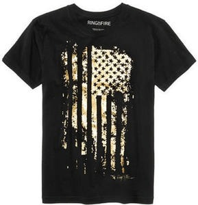 Ring of Fire Men's Metallic-Print T-Shirt