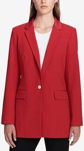 Faux-Leather-Collar Blazer, Regular & Petite