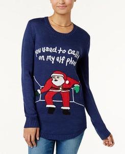 Juniors' Embellished Holiday Sweater