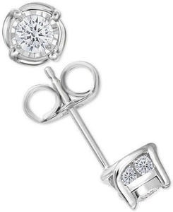 Trumiracle Diamond Stud Earrings (1/2 ct. t.w.) in 14k Gold, Rose Gold or White Gold