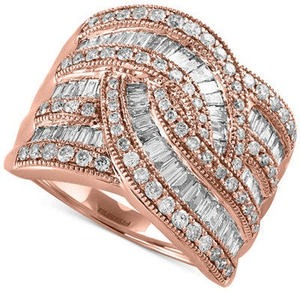 Classique by EFFY Diamond Wide-Style Ring (1-1/2 ct. t.w.) in 14k Gold or White Gold