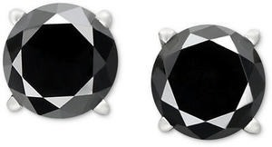 Black Diamond Stud Earrings in 14k White Gold (1-1/2 ct. t.w.)