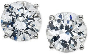 Certified DIamond Stud Earrings in 14k Gold or White Gold